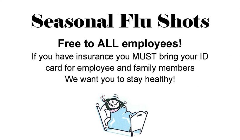 Announcement for flu shots